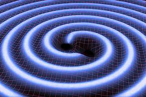 Representación gráfica de las ondas gravitacionales