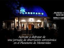 Jornada de observación astronómica en el Planetario